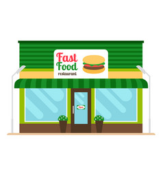 Fast food restaurant store front vector