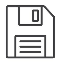 floppy disk line icon web and mobile diskette vector image