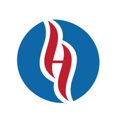 Letter h holistic logo design vector