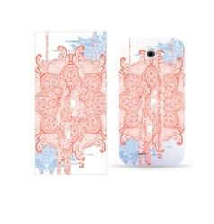 Phone case design flower abstract mandala pattern vector