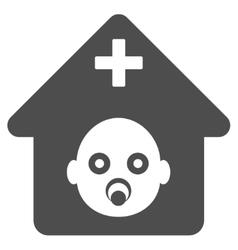 Prenatal hospital flat icon vector