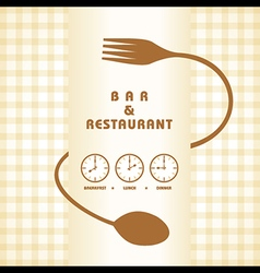 Restaurant menu design stock vector image