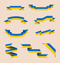 Ribbons or banners in colors of ukrainian flag vector