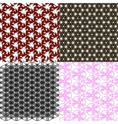 Set of abstract vintage geometric wallpaper vector image vector image