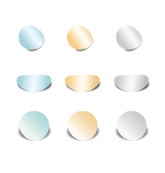 set of color stickers - eps 10 vector image