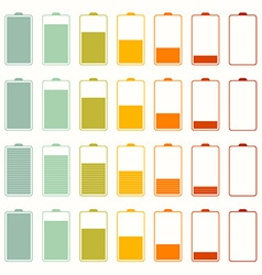 Simple Battery Life Icon Set Set Isolated on White vector image