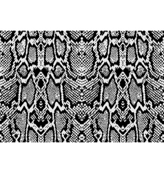 Snake python skin texture seamless pattern black vector