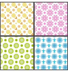 Spring abstract floral seamless patterns vector image vector image