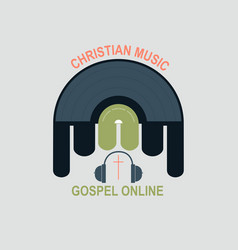 Studio christian music vector