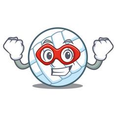Super hero volley ball character cartoon vector