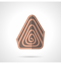 Sweet chocolate roll flat color icon vector image