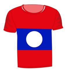 T-shirt flag laos vector