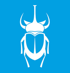 Weevil beetle icon white vector