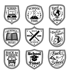 set of Back to school labels With bus vector image