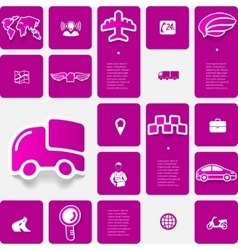Delivery sticker infographic vector