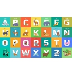 Animals Alphabet Letter from A to Z vector image