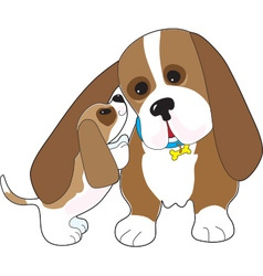 Basset Talk Dad vector image