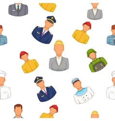 Profession pattern cartoon style vector