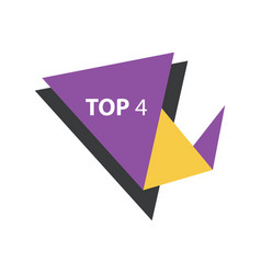 Top4 text in label purple yellow black vector