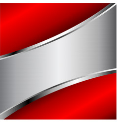 Abstract red and silver background with copy space vector