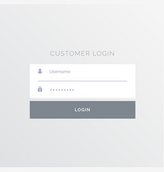 Simple white login form template design vector