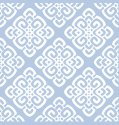 White and blue damask vector