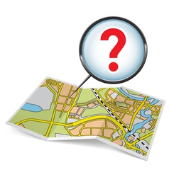 Map booklet with question mark vector