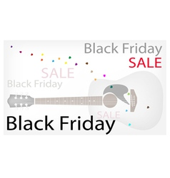 Acoustic guitars background of for black friday vector