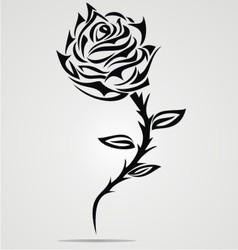 Rose Flower Tattoo Design vector image
