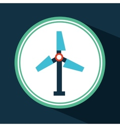 Windmill icon vector