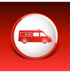 Ambulance icon medical urgent first relief vector