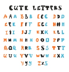 Funny alphabet letters hand drawn fonts vector
