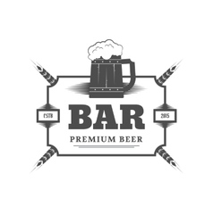 Beer bar sign vector