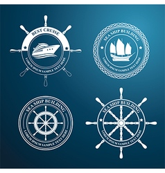 Nautical label vector