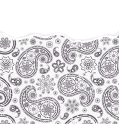 paisley pattern with torn paper vector image