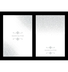 Silver banners and cards vector