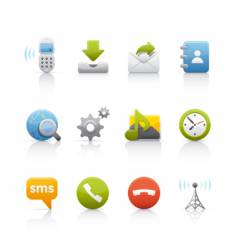 Icon set internet and communications vector