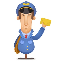 postal worker vector image