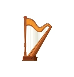 Harp icon in cartoon style vector