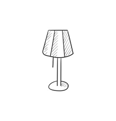 Stand lamp sketch icon vector