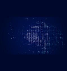 abstract big data visualization blue vector image