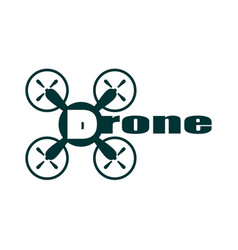 Drone icon drone text vector