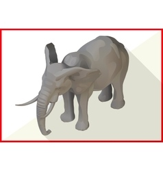 Elephant isometric flat 3d vector image vector image