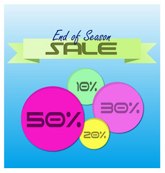 end of season sale vector image vector image