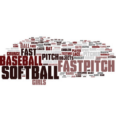 Fastpitch word cloud concept vector