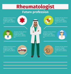 future profession rheumatologist infographic vector image vector image