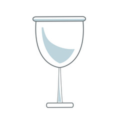 glass cup beverage wine glassware outline vector image vector image