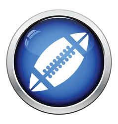 Icon of American football ball vector image