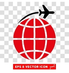 International Flight Eps Icon vector image