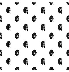 kidney pattern vector image vector image